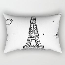 Paris Eiffel Tower Drawing Rectangular Pillow