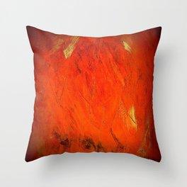 Italian Style Orange Stucco - Adobe Shadows Throw Pillow