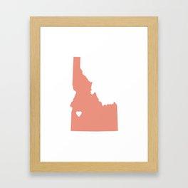 Idaho Love in Peach Framed Art Print
