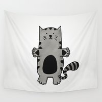 kitty Wall Tapestries featuring Kitty by Studio14