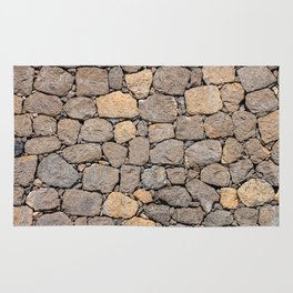 volcanic rock, background, pattern, stone, basalt, patch, maps, brown, road, paved, symmetrical Rug