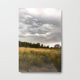 Stormy fields Metal Print