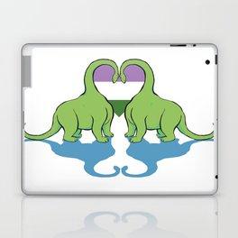 Genderqueer Pride - Dino Love Laptop & iPad Skin