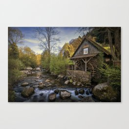 Autumn Water Wheel Canvas Print