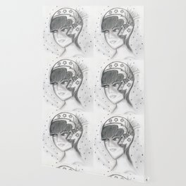 Starry Flapper in Black and White Wallpaper