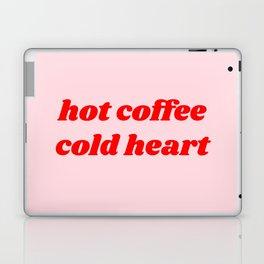 hot coffee cold heart Laptop & iPad Skin