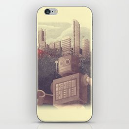 A City Snow-Bot iPhone Skin