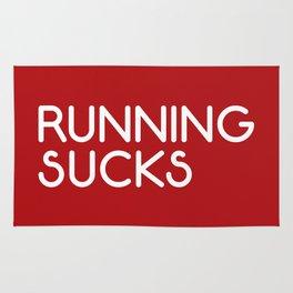 Running Sucks Funny Quote Rug