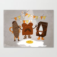 breakfast club Canvas Prints featuring Breakfast club by monrix