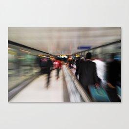 Passengers motion blur Canvas Print