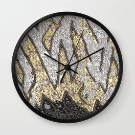 SJ Cummings : 5th Floor -Black Royalty Wall Clock