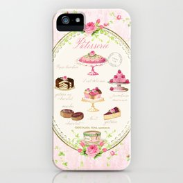 Pink Patisserie Rose iPhone Case