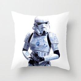 Tattooed Trooper Throw Pillow