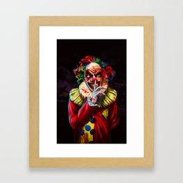Scariest Clown Framed Art Print