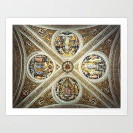 """Raffaello Sanzio da Urbino """"Ceiling of the Stanza della Segnatura"""", 1508-1511 Art Print"""
