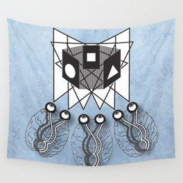 Three Brains Wall Tapestry