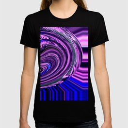 BLUE PURPLE ABSTRACTION T-shirt