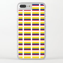 Flag of Colombia 2 -Colombian,Bogota,Medellin,Marquez,america,south america,tropical,latine america Clear iPhone Case