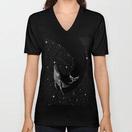 starry whale Unisex V-Neck