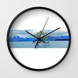 AllenbyArt That Wanaka Tree Landscape Scenery of Lough, Photography,  Wall Clock