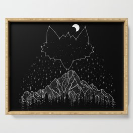 Mountains Fox Serving Tray