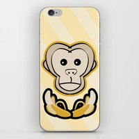 monkey island iPhone & iPod Skins featuring Monkey by Nir P