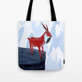 Mountain Goat Design Tote Bag