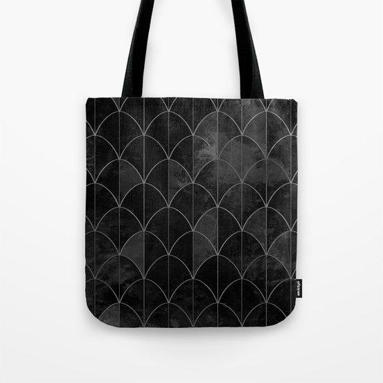 Mermaid scales in black and white. Tote Bag