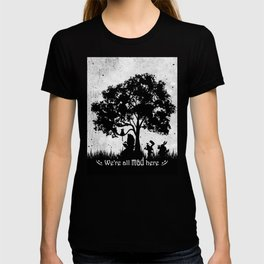 We're All Mad Here Alice In Wonderland Silhouette Art T-shirt