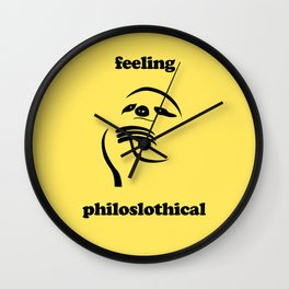 Feeling Philoslothical Wall Clock