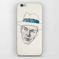 frank sinatra iPhone & iPod Skins featuring Sinatra by Jason Ratliff
