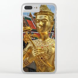 Golden Kinnaris Statue Clear iPhone Case