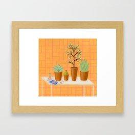 The Study of Botany Framed Art Print