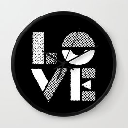Love black and white contemporary minimalist typography design home wall decor bedroom Wall Clock