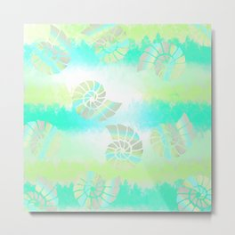 Tie Dye Seashells Metal Print