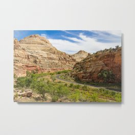 Road through Capitol Reef National Park Metal Print