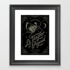Le Vengeur de Pégoud (black/gold) Framed Art Print