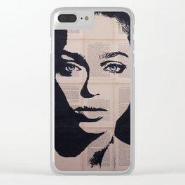 Anouchka blueyes Clear iPhone Case