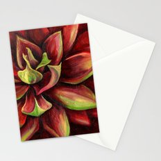 Red Succulent Cactus, Blue Flame Agave Stationery Cards