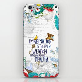 Alice in Wonderland - Imagination iPhone Skin