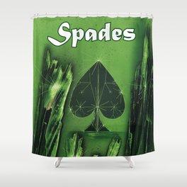 Spades Suit Shower Curtain