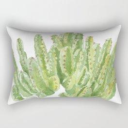 Moroccan Mound Cactus Watercolor Rectangular Pillow