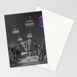 Chair Lift to the Purple Moon Stationery Cards