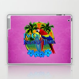 Pink Island Time Sunset Laptop & iPad Skin
