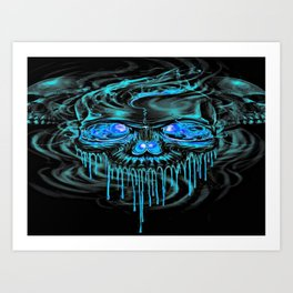 Winter Ice Skeletons Art Print