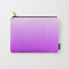 White and Magenta Gradient 041 Carry-All Pouch