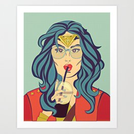 Superhero Coffee Break Art Print