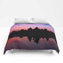 Angkor Wat Sunrise Reflection Comforters