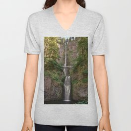 A Most Spectacular Waterfall Unisex V-Neck