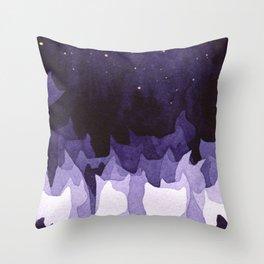 purple cats Throw Pillow